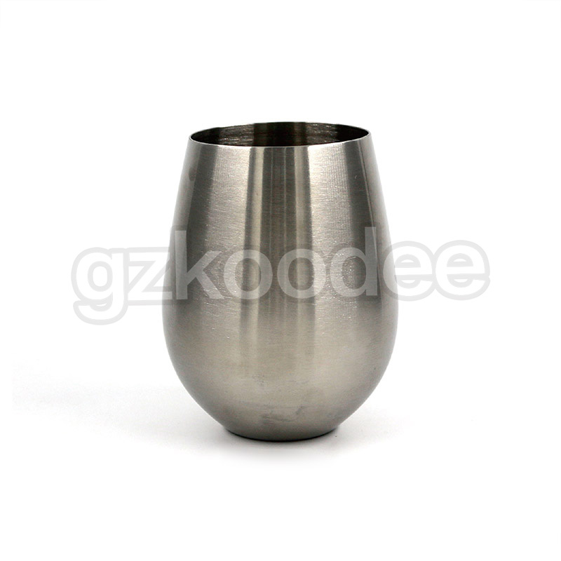 sandblasted steel beer pint  -  stainless steel wine cups