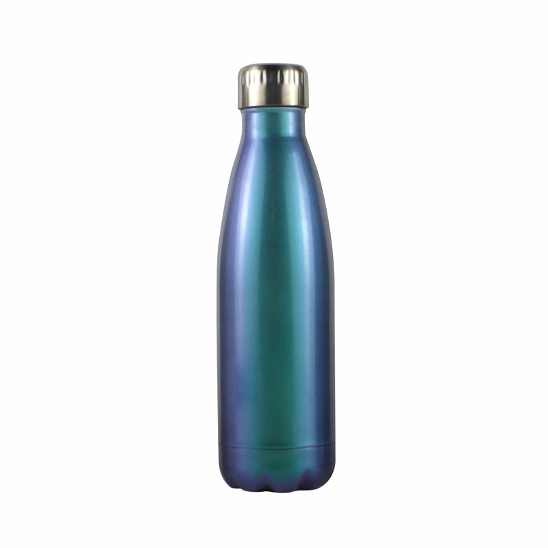 colored glass makes cameo appearance  -  colored glass water bottles